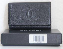 Chanel Porte-clés noir cuir