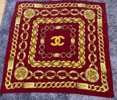 Chanel Zijden doek goud Oranje-rood Zijde