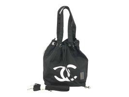 Chanel Schoudertas zwart Textielvezel