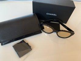 Chanel Occhiale a farfalla nero-oro