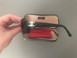 Chanel Oval Sunglasses black-dark violet