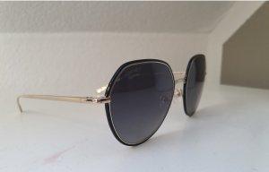Chanel Angular Shaped Sunglasses gold-colored