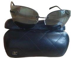 Chanel Butterfly bril zwart-zilver