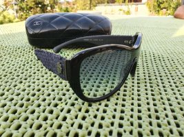 Chanel Oval Sunglasses black-blue