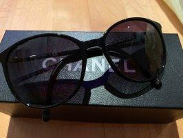 Chanel Lunettes de soleil rondes noir