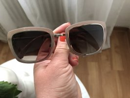 Chanel Gafas de sol cuadradas beige-color plata