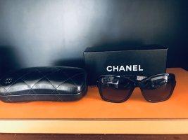 Chanel Angular Shaped Sunglasses black-silver-colored