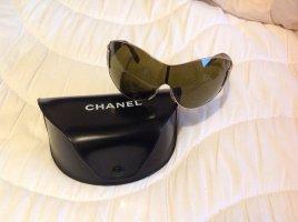 Chanel Sonnenbrille braun Leomuster Gold Rahmen
