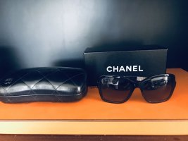 Chanel Angular Shaped Sunglasses black-silver-colored