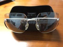 Chanel Sonnenbrille klar Sommer Weiß Luxus Top Zustand Blogger Mit Etui