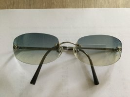 Chanel Gafas de sol ovaladas gris antracita