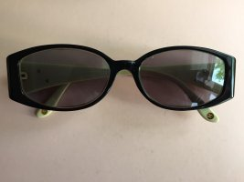 Chanel Occhiale stile retro nero-verde pallido