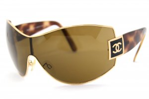 Chanel Occhiale oro-marrone Acetato