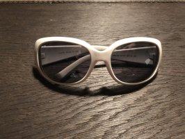 Chanel Occhiale da sole ovale bianco