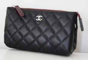 Chanel Clutch black-silver-colored leather