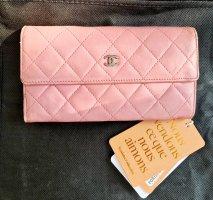 Chanel Cartera color plata-rosa