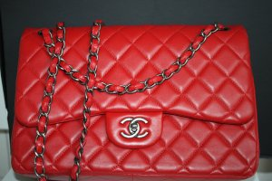 Chanel Timeless Jumbo 30 cm Tasche Double Flap Crossbody Box ID Card Dokumente