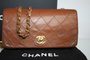 Chanel Timeless kleine Crossbody Tasche Cognac Gold Box Dustbag