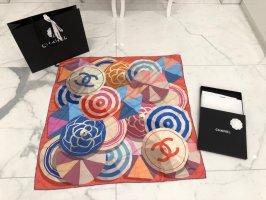 Chanel Panno di seta blu-rosa