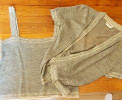 Chanel Twin set in maglia grigio