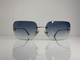 CHANEL Vintage Sonnenbrille Blau