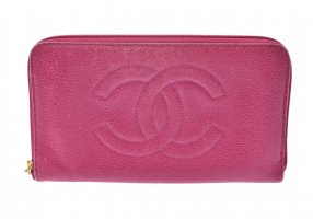 Chanel Portafogli rosa pallido Pelle