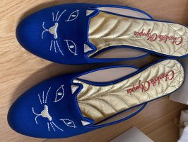 Charlotte Olympia Instappers donkerblauw-blauw