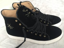 Charlotte Olympia High Top Sneaker black leather