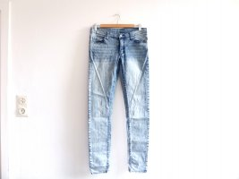 Cheap Monday Jeans Gr. 30 32 blau gewaschem used look slim advanced blue low waist Röhre