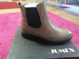 Jumex Botines Chelsea marrón claro-beige