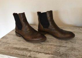 Marc O'Polo Botines Chelsea marrón-marrón oscuro
