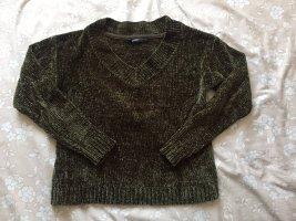CROPP Coarse Knitted Sweater khaki-green grey