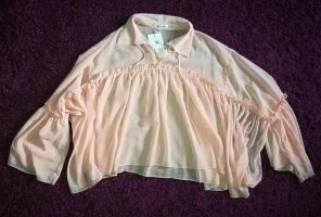 Cherry Transparent Blouse light pink