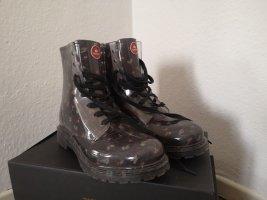 Cherry Wellington laarzen zwart-neonrood Gemengd weefsel