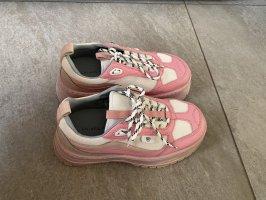 Chiara Ferragni Sneaker Gr.37 NEU rosa Leder Original Design Plateau