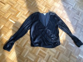 H&M Wraparound Blouse black-anthracite