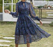 SheIn Szyfonowa sukienka Wielokolorowy