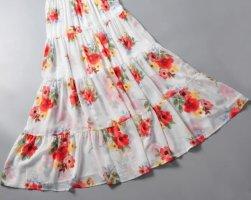 Forever 21 Maxi Skirt white-bright red