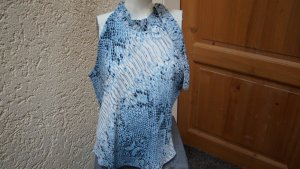 Together Blouse topje wit-staalblauw Polyester
