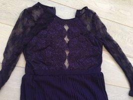 Chiffonkleid violett Hochzeit Party Gr L 40 Spitze