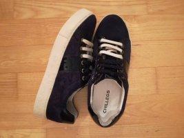 chillegs Sneakers met veters donkerblauw-wit