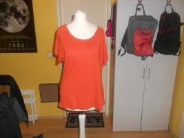 Chillytime - oranges T-Shirt mit Cut Out Schultern Gr. 36/ 38 neu