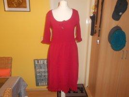 Chillytime Sukienka midi czerwony Poliakryl