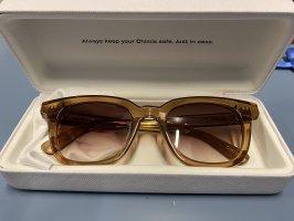 Chimi Angular Shaped Sunglasses light brown-beige