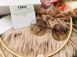 Chloé Ronde zonnebril cognac-goud