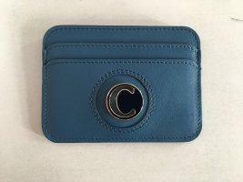 Chloé Card Case petrol leather