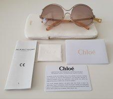 Chloé Occhiale da sole rotondo crema-rosa pallido