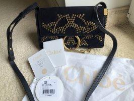 Chloé Shoulder Bag gold-colored-dark blue