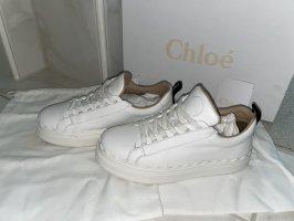 Chloé Sznurowane trampki biały-czarny