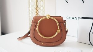 Chloé Nile Bracelet Bag Braun